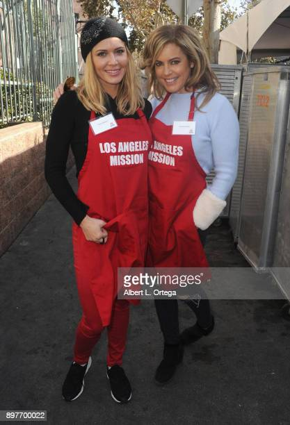 Torrie Wilson and Sandra Taylor attend The Los Angeles Mission's Christmas Celebration On Skid Row held at Los Angeles Mission on December 22 2017 in...