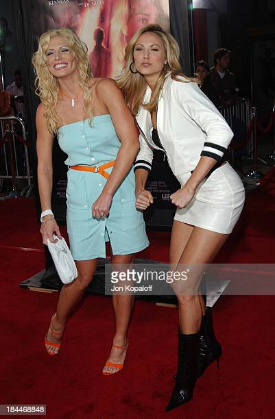 Torrie Wilson and Stacy Keibler during 'Godsend' Los Angeles Premiere Arrivals at Grauman's Chinese Theatre in Hollywood California United States