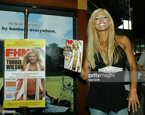 Torrie Wilson during Signing for FHM cover girl and WWE Diva Torrie Wilson at 1 South Station in Boston Massachusetts United States