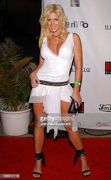 Torrie Wilson from the WWE during Von Dutch Designer Christian Audigier's Birthday Celebration at Private residence in Hollywood California United...