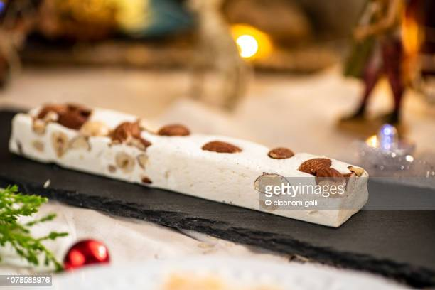 torrone - nougat stock pictures, royalty-free photos & images