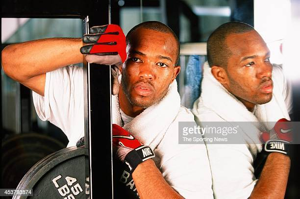 Torry Holt of the North Carolina Tar Heels poses for a photo in Raleigh North Carolina on February 3 1999