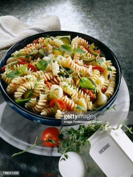 Torsade pasta with vegetables