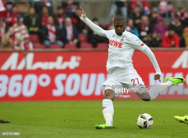Torschuss Anthony Modeste of Colonge in action during the Bundesliga match between 1 FC Koeln and Hertha BSC at RheinEnergieStadion on March 18 2017...