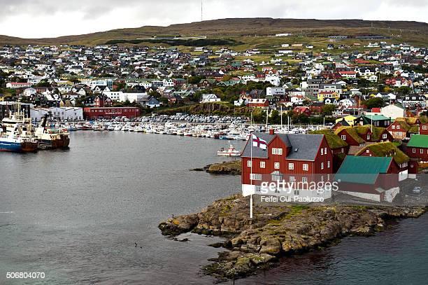 torshavn city of streymoy island in faroe islands - torshavn stock pictures, royalty-free photos & images