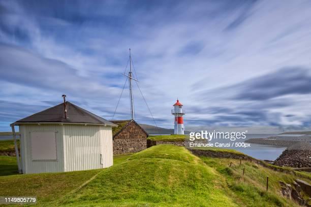 torshavn lighthouse - torshavn stock pictures, royalty-free photos & images