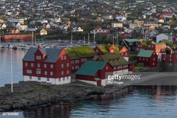 torshavn, streymoy, faroe islands, denmark - torshavn - fotografias e filmes do acervo