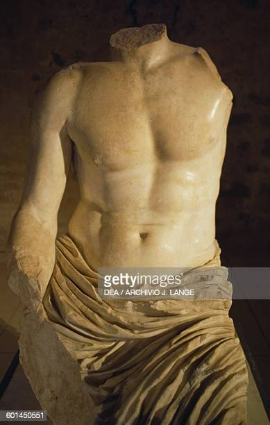 Torso Biscari a colossal statue of an emperor of the JulioClaudian dynasty Catania Sicily Italy Roman civilisation 1st century AD Catania Museo...