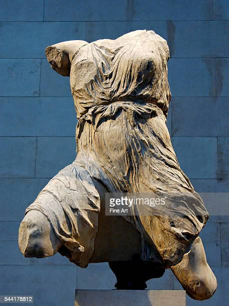 Torso of Iris winged messenger god by unknown sculptor under supervision of Pheidias West pediment N Parthenon ca 447433 BC Dimensions H 135 m Former...