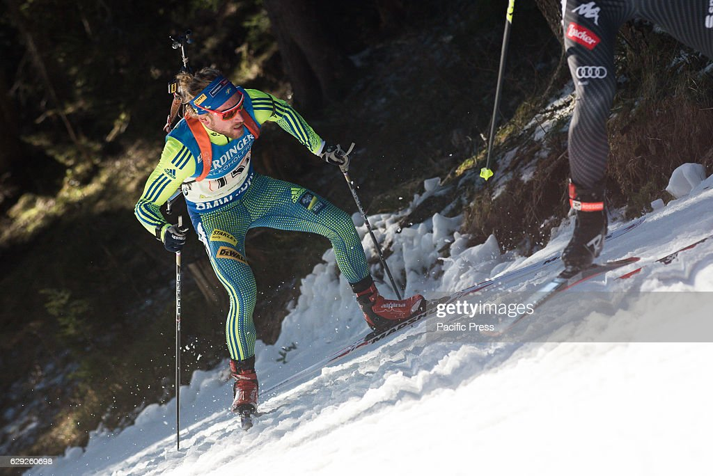 Torstein Stenersen of Sweden on the course during men 4 x 7,... : Nachrichtenfoto