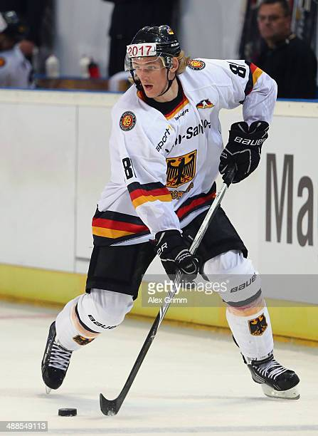 Torsten Ankert of Germany during the international ice hockey friendly match between Germany and USA at Arena Nuernberger Versicherung on May 6 2014...