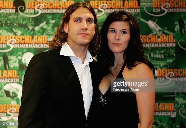 Torsten Frings and his wife Petra attends the premiere of the film Deutschland ein Sommermaerchen at the Berlinale Palast on October 3 2006 in Berlin...