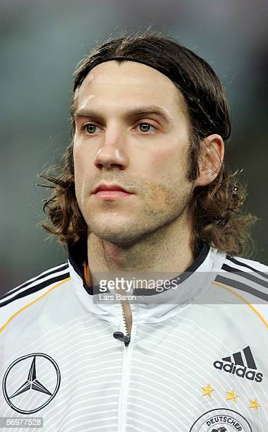 Torsten Frings of Germany pose before the international friendly match between Italy and Germany at the Artemio Franchi Stadium on March 1 2006 in...