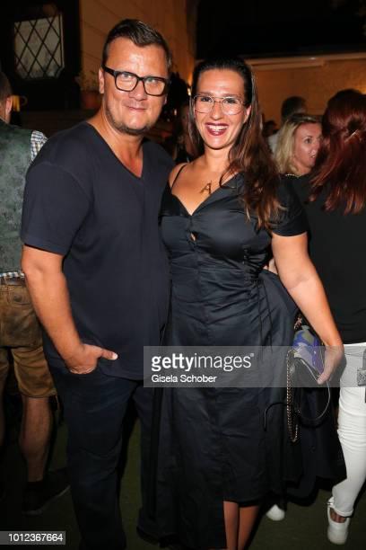 Torsten Koch Constantin Film and his wife Annika Koch during the 'Sauerkrautkoma' premiere after party at Straubinger restaurant on August 6 2018 in...
