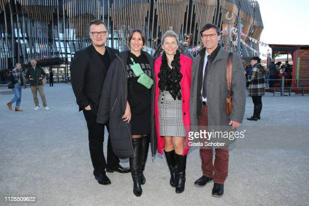 Torsten Koch Managing Director Constantin Film and his wife Annika Koch Jana Wolfram and Dr Sven Hofmann during the premiere of the film 'Ostwind...