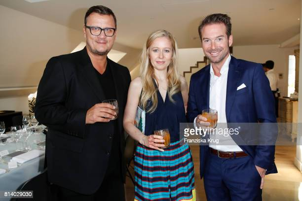 Torsten Koch Stephanie Watine Arnault and Sebastian Hoeffner during the Clos19 dinner on July 13 2017 in Munich Germany