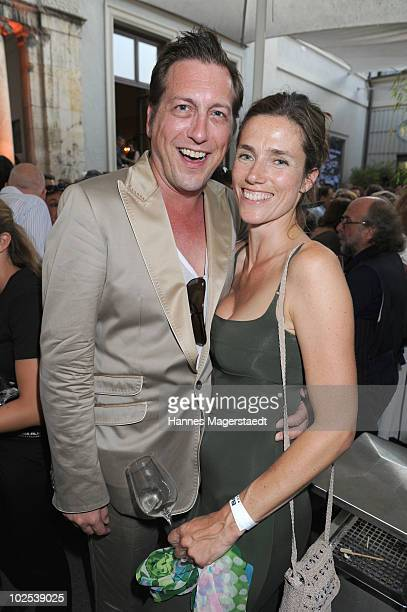 Torsten Lenkheit and Julia Bremermann attend the 'Bavaria Reception' during the Munich Film Festival at the Kuenstlerhaus on June 29, 2010 in Munich,...