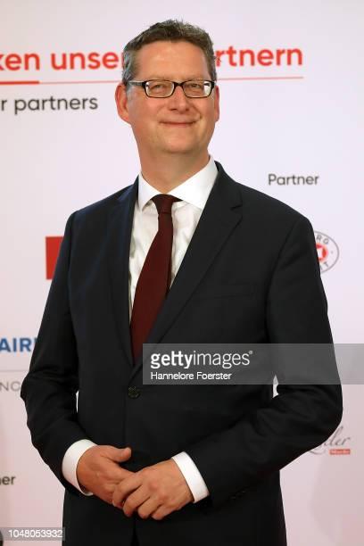 Torsten Schaefer-Guembel, leader of the opposition SPD in Hesse, attends the opening ceremony of the 2018 Frankfurt Book Fair on October 9, 2018 in...