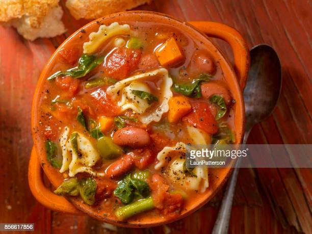Tortellini en groentesoep