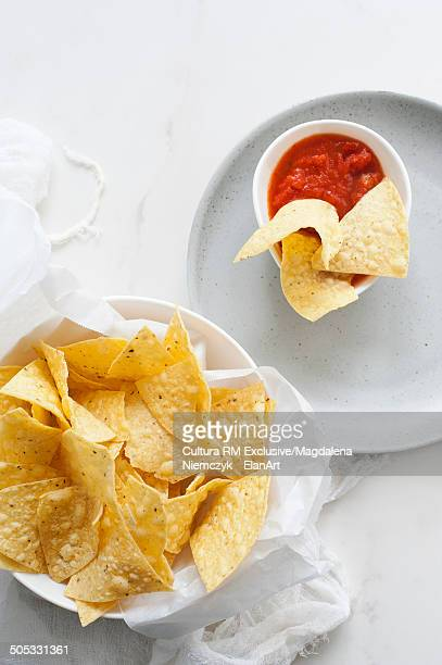 Tortilla chips and bowl of dip