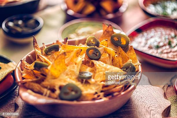 Tortilla Chips with Cheese and Jalapenos