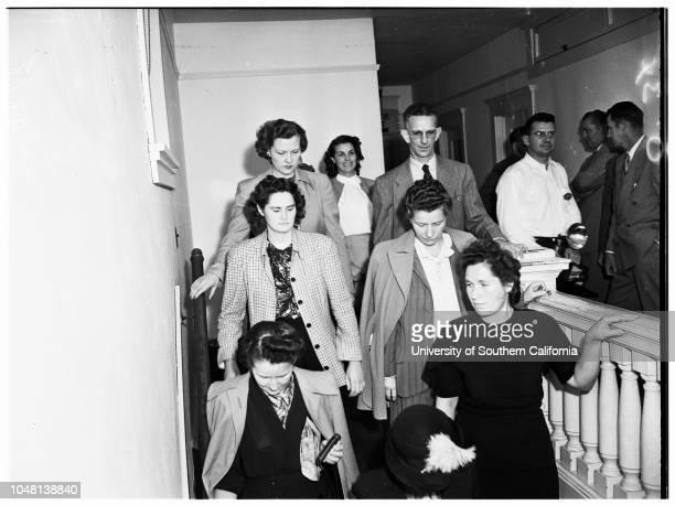Torture arraignment 22 October 1951 Reverend Tilford T Ward Mrs Julia Elizabeth WardMrs Carolyn J MungerEugene MungerAttorney King Caruthers Deputy...
