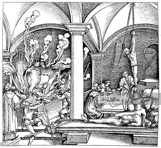 Torture chamber in the 16th century, Germany.
