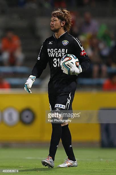 Toru Hasegawa of Tokushima Voltis in action during the J. League match between Shimizu S-Pulse and Tokushima Voltis at IAI Stadium Nihondaira on...