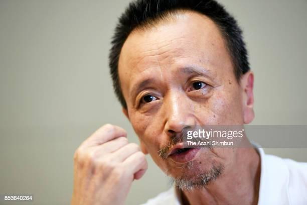 Toru Hasuike elder brother of former abductee by North Korea Kaoru Kasuike speaks during the Asahi Shimbun interview on September 20 2017 in Tokyo...