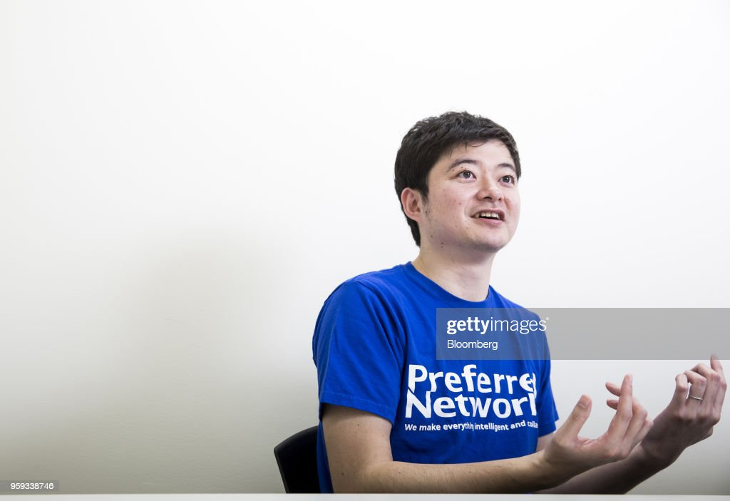 Toru Nishikawa, co-founder and chief executive officer of Preferred Networks Inc., speaks during an interview in Tokyo, Japan, on Friday, March 16, 2018. Preferred Networks has only one publicly available product, a whimsical application that uses artificial intelligence to automate the coloring of manga cartoons. Yet the four-year-old firm has become Japans most valuable startup, with a venture capital funding that priced it at more than $2 billion, according to people familiar with the matter. Photographer: Tomohiro Ohsumi/Bloomberg via Getty Images