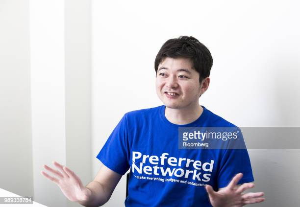 Toru Nishikawa cofounder and chief executive officer of Preferred Networks Inc speaks during an interview in Tokyo Japan on Friday March 16 2018...