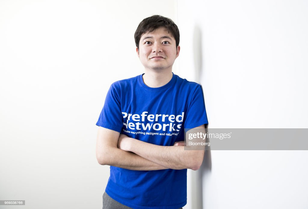 Toru Nishikawa, co-founder and chief executive officer of Preferred Networks Inc., poses for a photograph in Tokyo, Japan, on Friday, March 16, 2018. Preferred Networks has only one publicly available product, a whimsical application that uses artificial intelligence to automate the coloring of manga cartoons. Yet the four-year-old firm has become Japans most valuable startup, with a venture capital funding that priced it at more than $2 billion, according to people familiar with the matter. Photographer: Tomohiro Ohsumi/Bloomberg via Getty Images