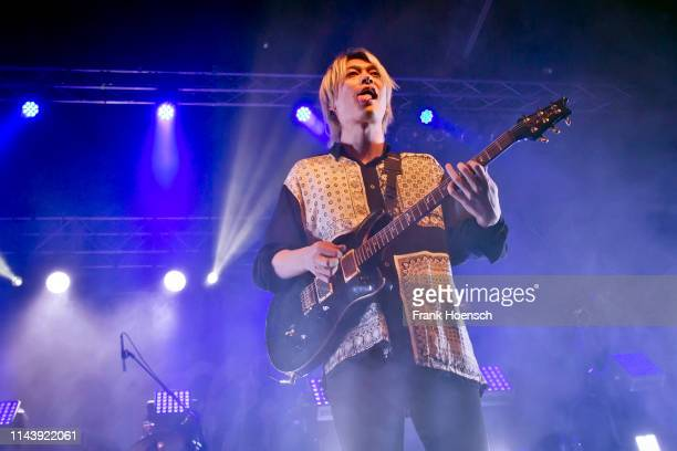 Toru of the Japanese band One Ok Rock performs live on stage during a concert at the Huxleys on May 14, 2019 in Berlin, Germany.