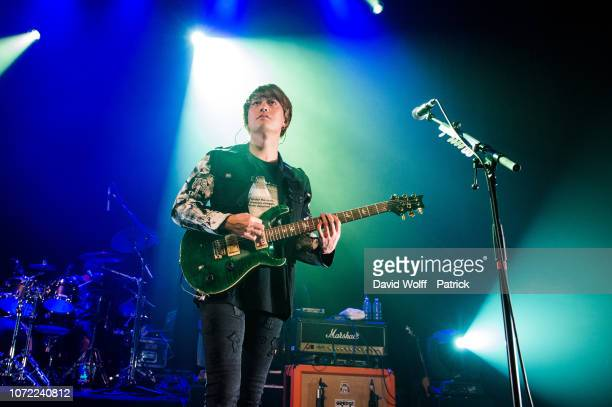 Toru Yamashita from One OK Rock performs at Le Bataclan on December 12, 2018 in Paris, France.