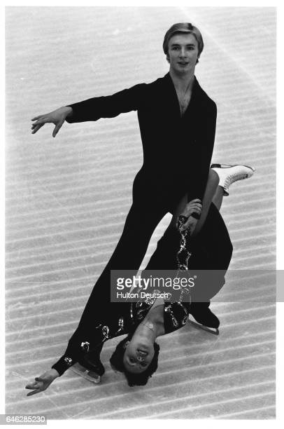 Torvill And Dean Going Through One Of Their Ice Dance Routines British ice skaters Jane Torvill and Christopher Dean 1980