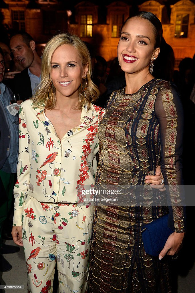 Tory Burch and actress Jessica Alba attend the Tory Burch Paris Flagship store opening after party at on July 7, 2015 in Paris, France.