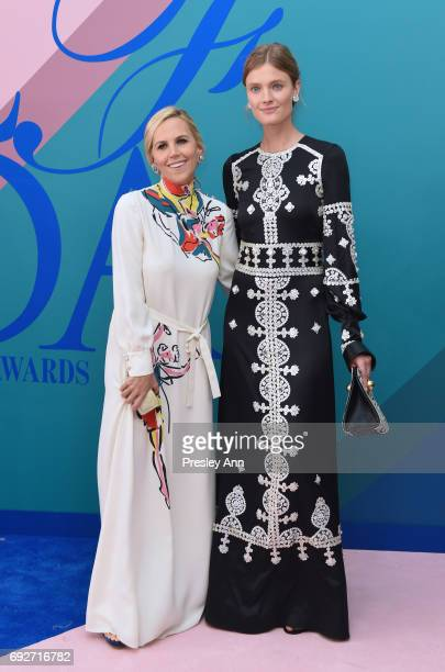 Tory Burch and Constance Jablonski attend the 2017 CFDA Fashion Awards at Hammerstein Ballroom on June 5, 2017 in New York City.