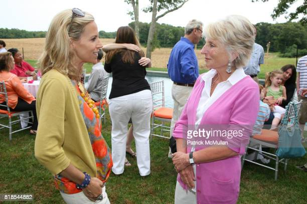Tory Burch and Jane Harman attend GINA HARMAN and TORY BURCH celebrate the partnership of ACCION USA and the TORY BURCH FOUNDATION at Private...
