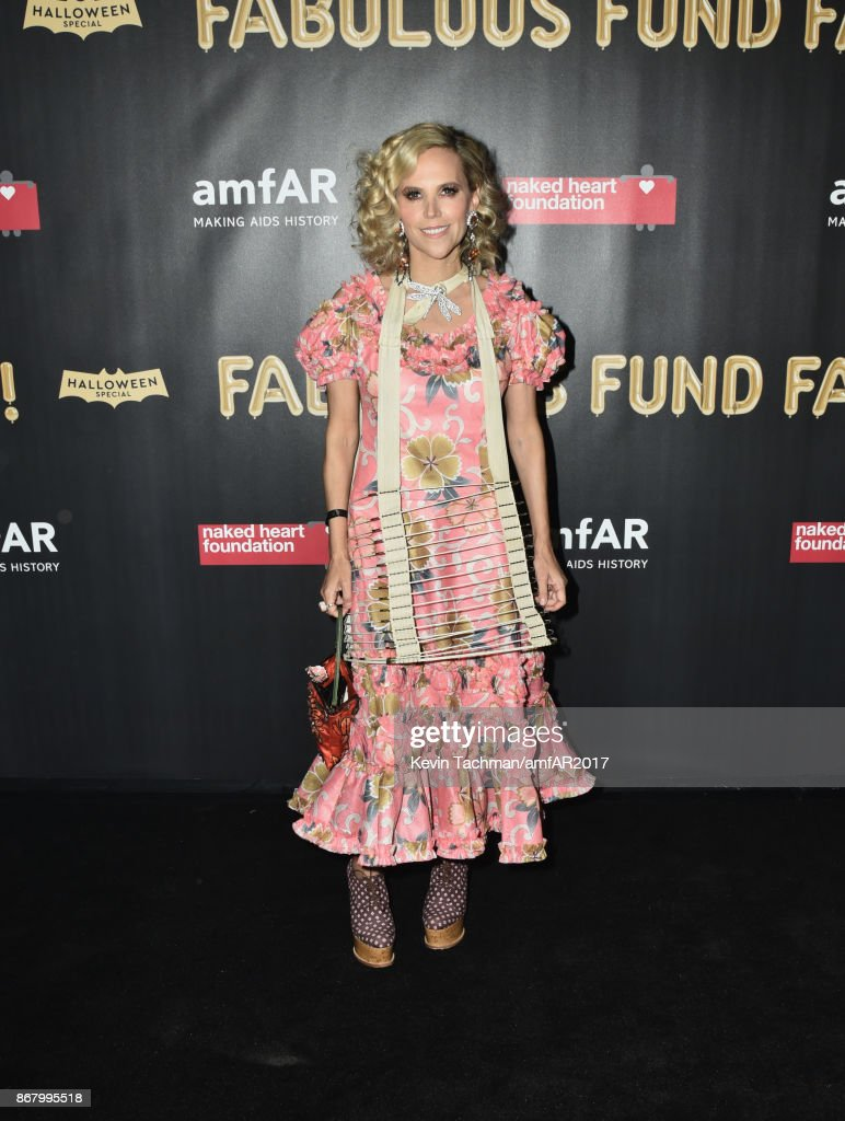 Tory Burch at the 2017 amfAR & The Naked Heart Foundation Fabulous Fund Fair at the Skylight Clarkson Sq on October 28, 2017 in New York City.