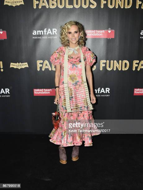 Tory Burch at the 2017 amfAR The Naked Heart Foundation Fabulous Fund Fair at the Skylight Clarkson Sq on October 28 2017 in New York City