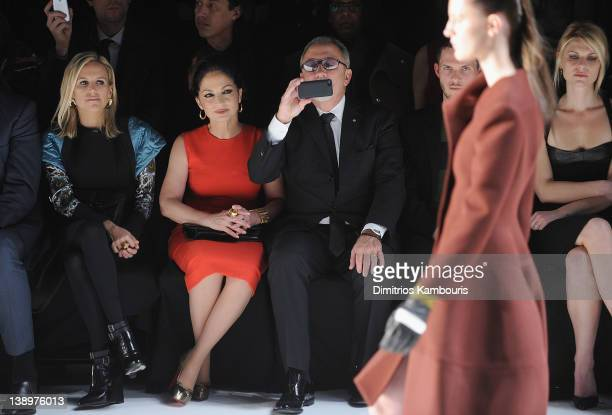 Tory Burch Gloria Estefan Emilio Estefan and Claire Danes attend the Narciso Rodriguez Fall 2012 fashion show during MercedesBenz Fashion Week at the...