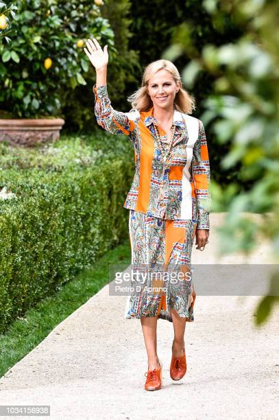 Tory Burch walks the runway at the Tory Burch fashion show during New York Fashion Week on September 7, 2018 in New York City.