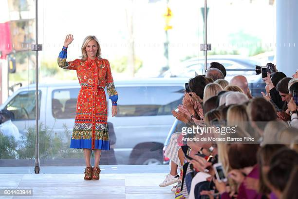 Tory Burch walks the runway at Tory Burch show during New York Fashion Week at The Whitney Museum of American Art on September 13, 2016 in New York...