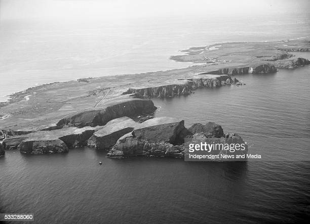 Tory Island nine miles off the Donegal coast is often cut away from the mainland by the stormlashed ocean 30/01/59 Photograph by Alexander Campbell...
