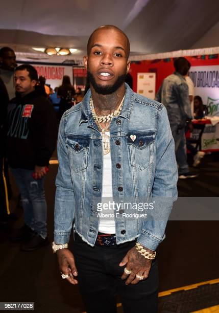 Tory Lanez attends day two of the 2018 BET Awards Radio Remotes on June 23 2018 in Los Angeles California