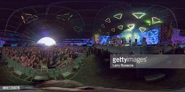 Tory Lanez performs on the Sahara Stage during day 2 of the Coachella Valley Music And Arts Festival at the Empire Polo Club on April 15 2017 in...