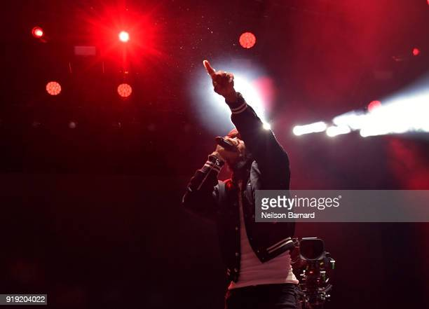 Tory Lanez performs onstage during adidas Creates 747 Warehouse St an event in basketball culture on February 16 2018 in Los Angeles California