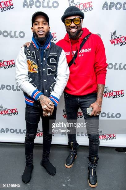 Tory Lanez poses with Wardell Malloy from BMI during BMI's How I Wrote That Song 2018 on January 27 2018 in New York City
