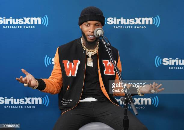Tory Lanez takes part in his album listening event on SiriusXM's The Heat Channel at SiriusXM Studios on March 2 2018 in New York City