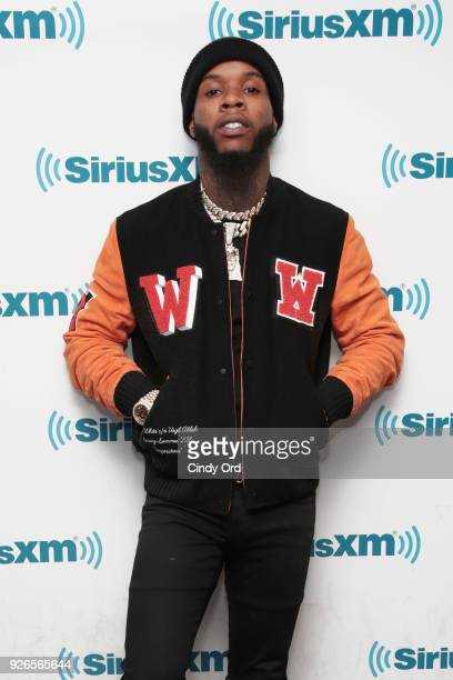 Tory Lanez visits the SiriusXM Studios on March 2 2018 in New York City